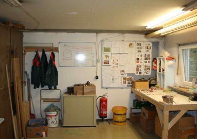 Die Kreativ-Werkstatt im Keller von JAS
