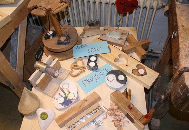 Herzensprojekte der Jugendlichen in der Werkstatt der JAS